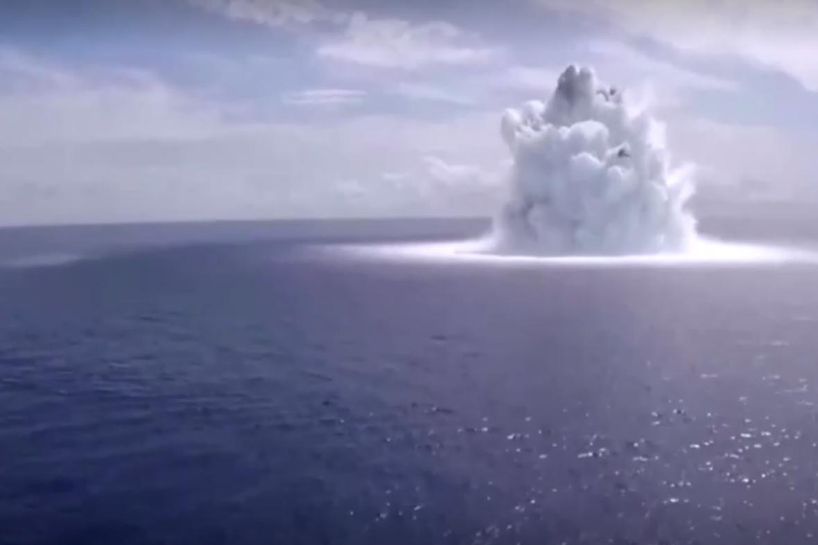 Zkušební exploze více než 18 kilogramů trhaviny