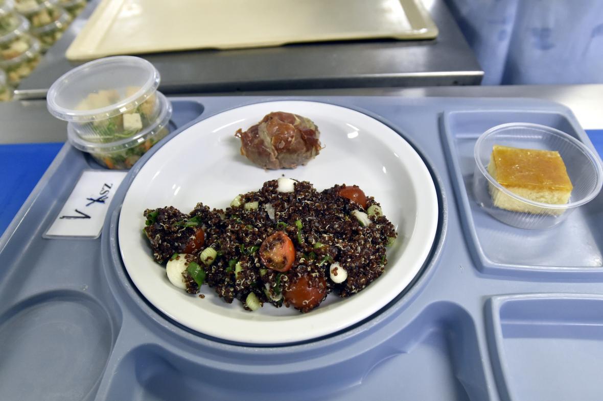 Jídlo v Krajské nemocnici Tomáše Bati ve Zlíně