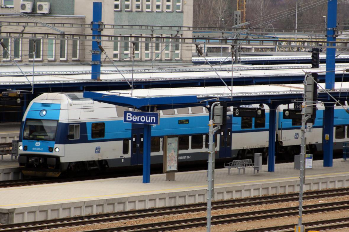 Vlakové nádraží v Berouně