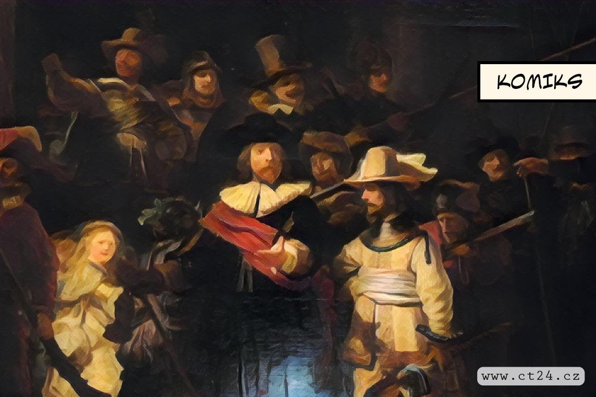 Rembrandtovu Noční hlídku dokončila umělá inteligence