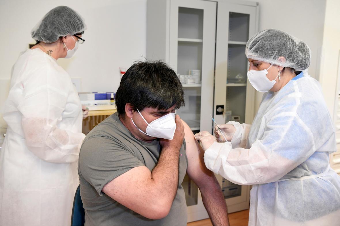 Očkování Sputnikem V v Žilině