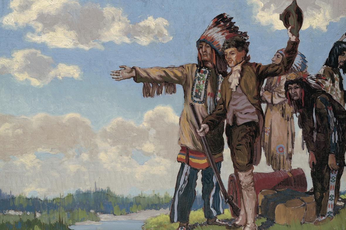 Samuel Hearne se svými průvodci objevuje Kanadu
