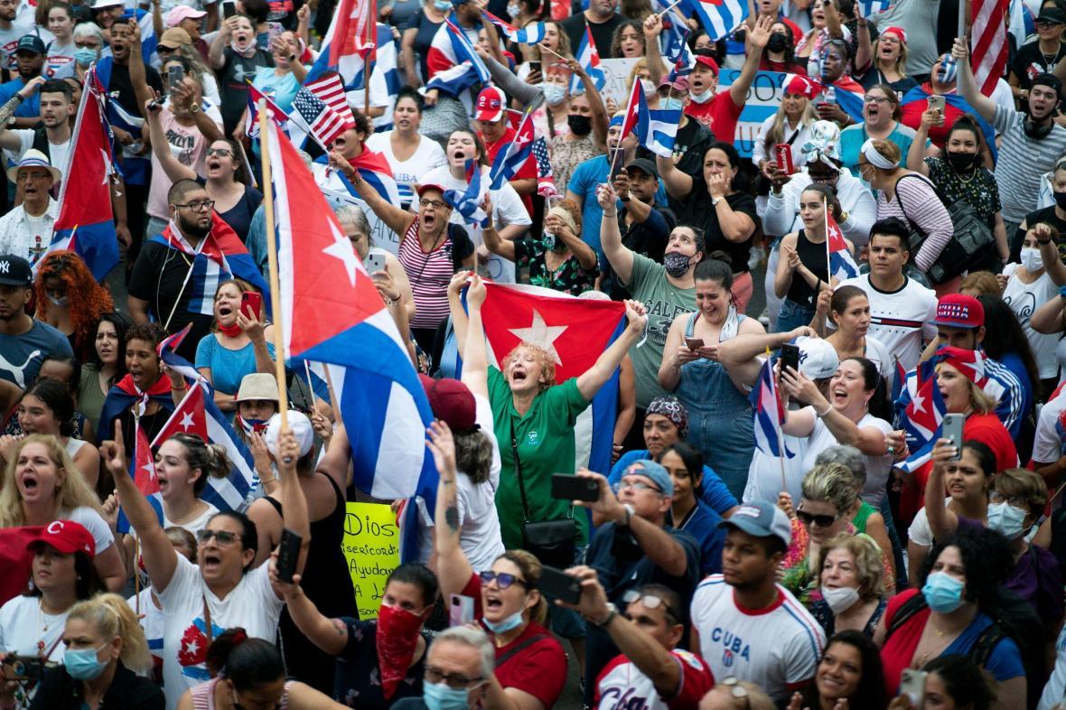 Protesty na Kubě
