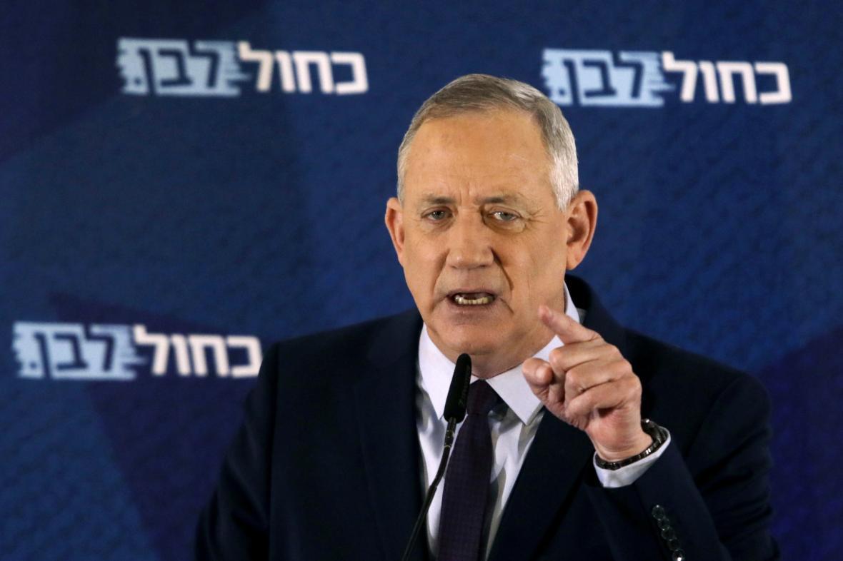 Izraelský ministr obrany Benjamin Gantz