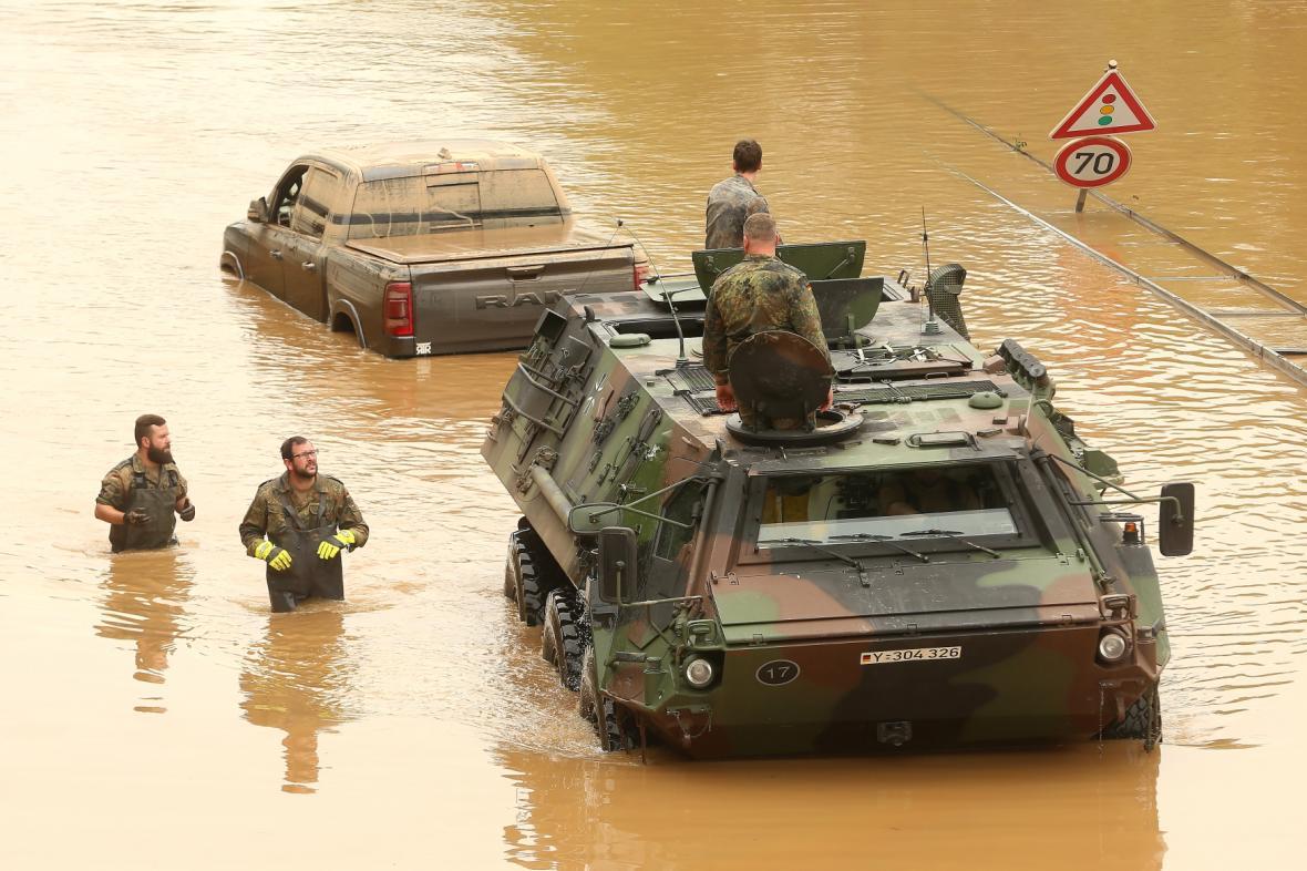 Dopady záplav v Německu