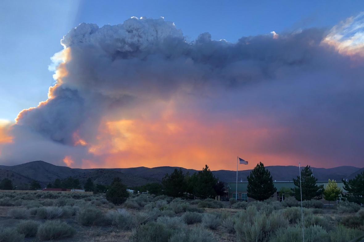 Požár Tamarack v Nevadě