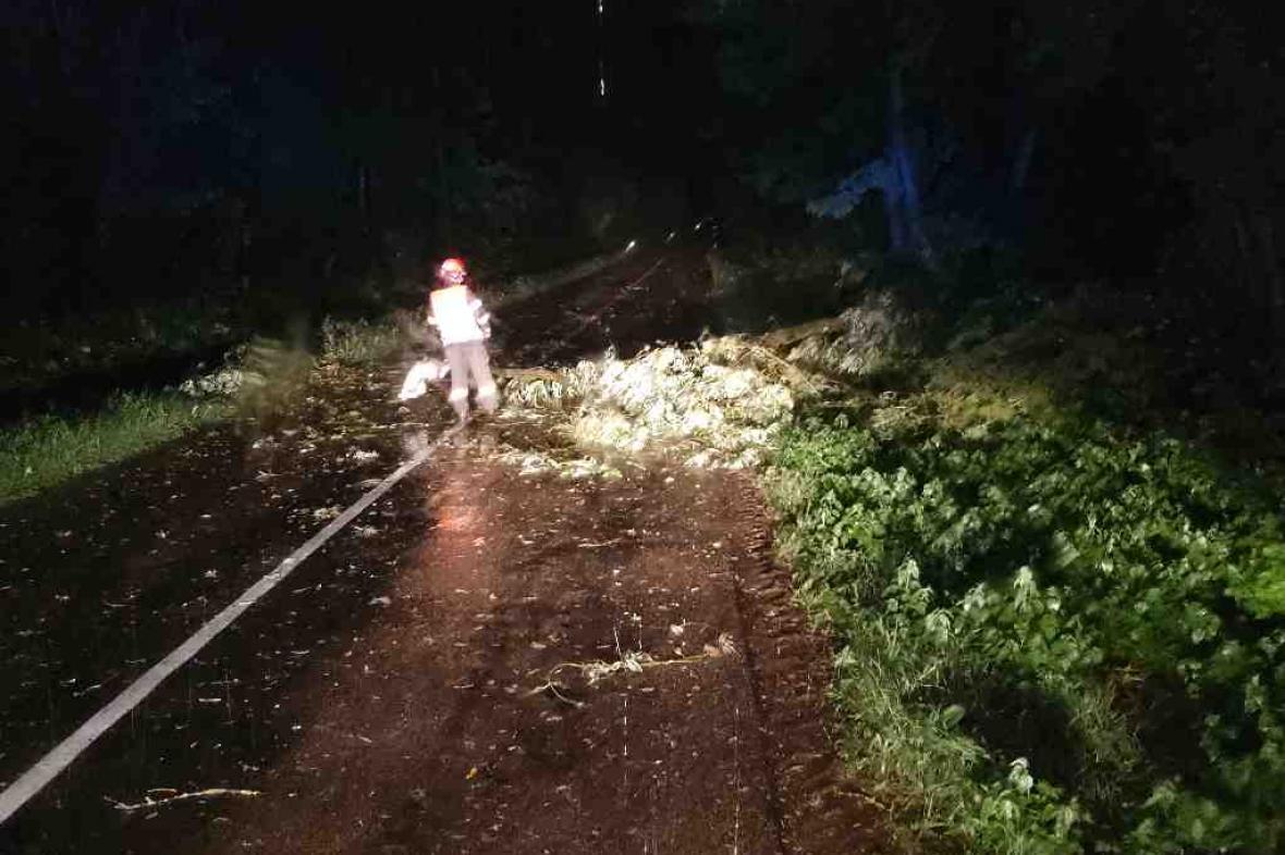 Následky bouře v Jihomoravském kraji