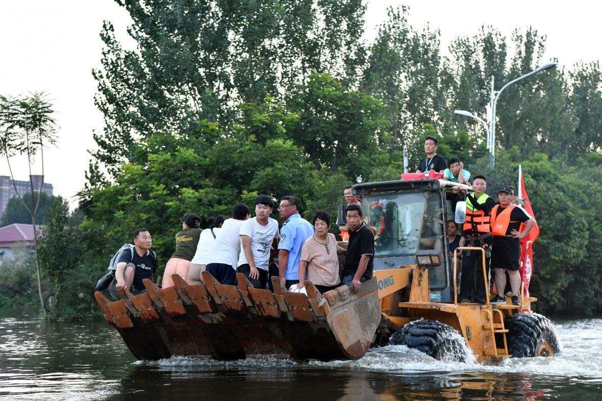 Záplavy v provincii Che-nan