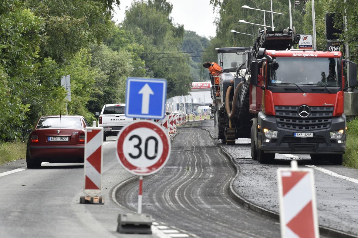 Oprava Rožnovské ulice ve Valašském Meziříčí