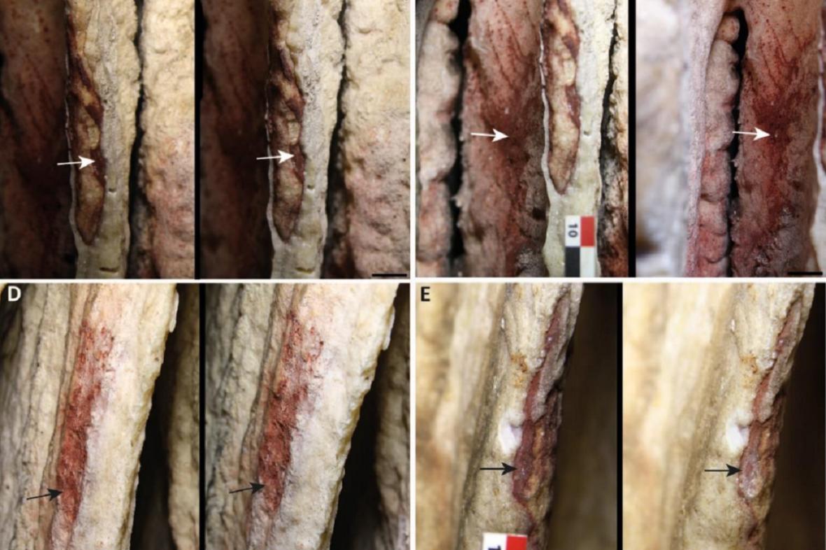 Barevné krápníky ze španělské jeskyně