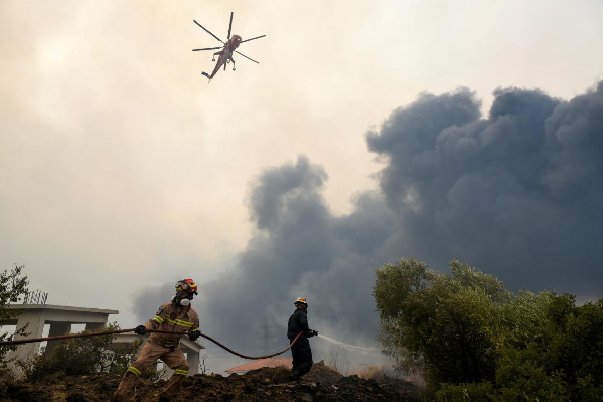 Zásah hasičů u Atén