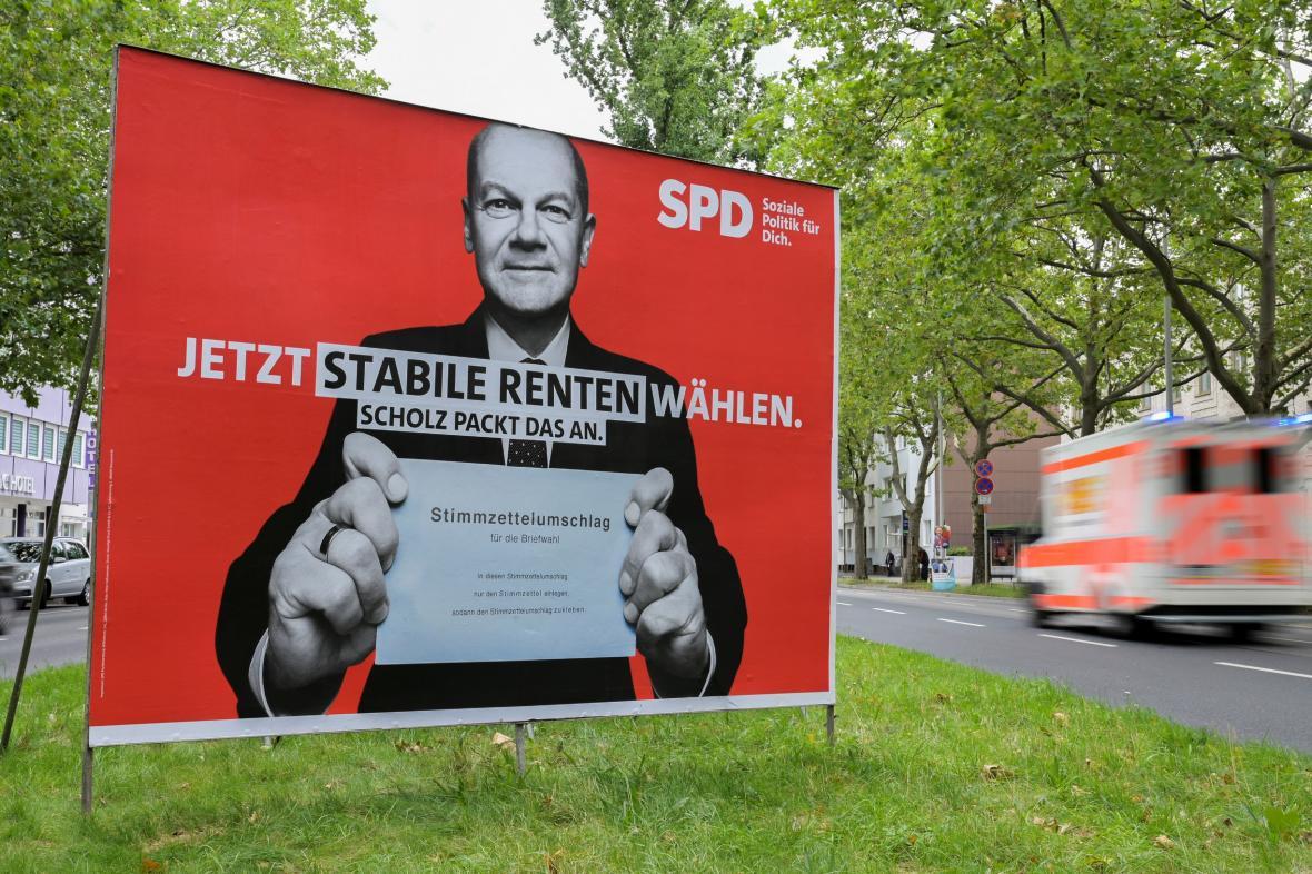 Předvolební plakát německé SPD