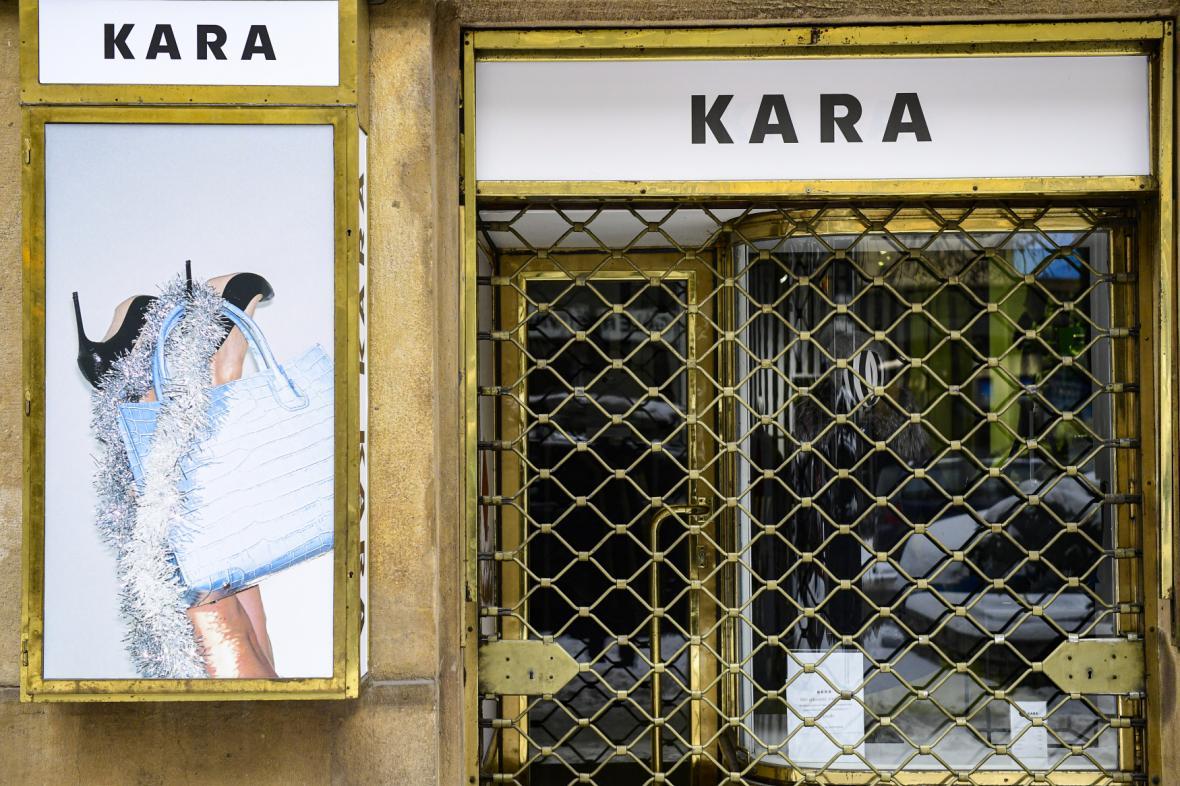 Prodejna firmy Kara na pražské Národní třídě