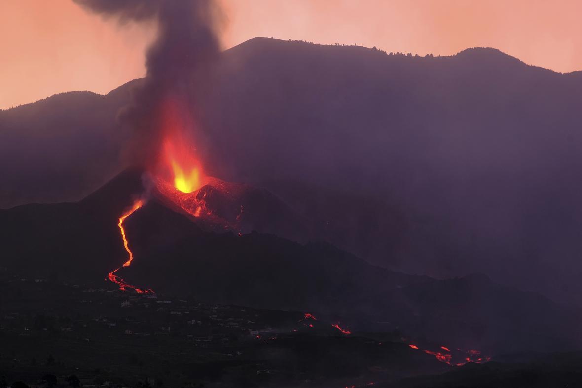 Výbuch sopky na španělské La Palmě
