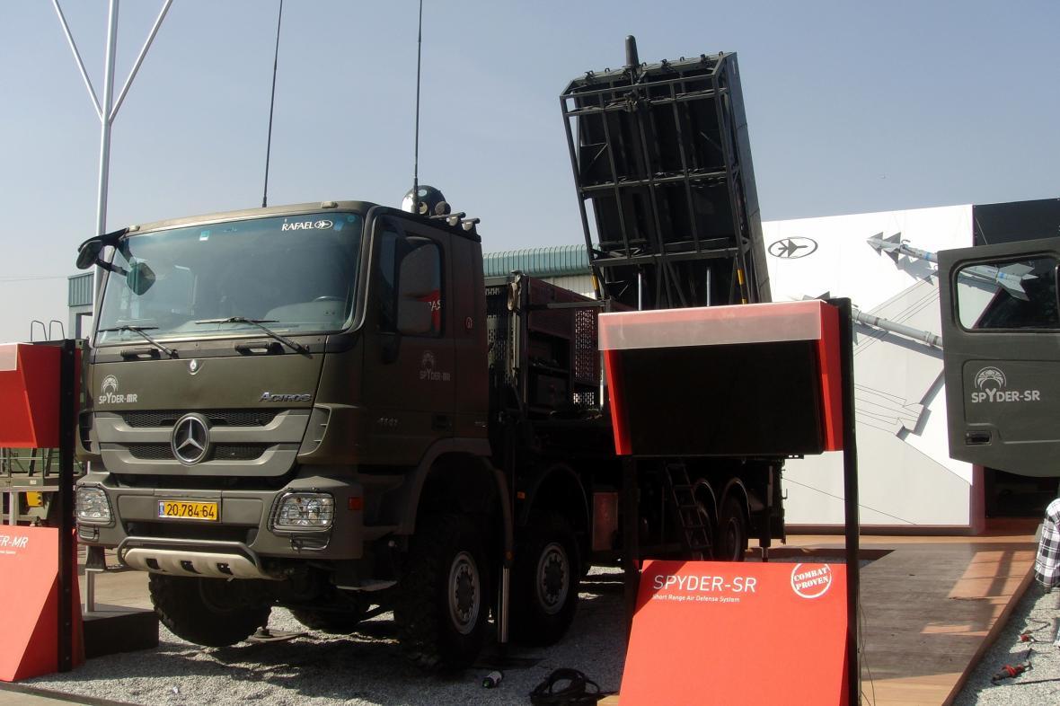 Raketový komplet SPYDER používaný izraelskou armádou