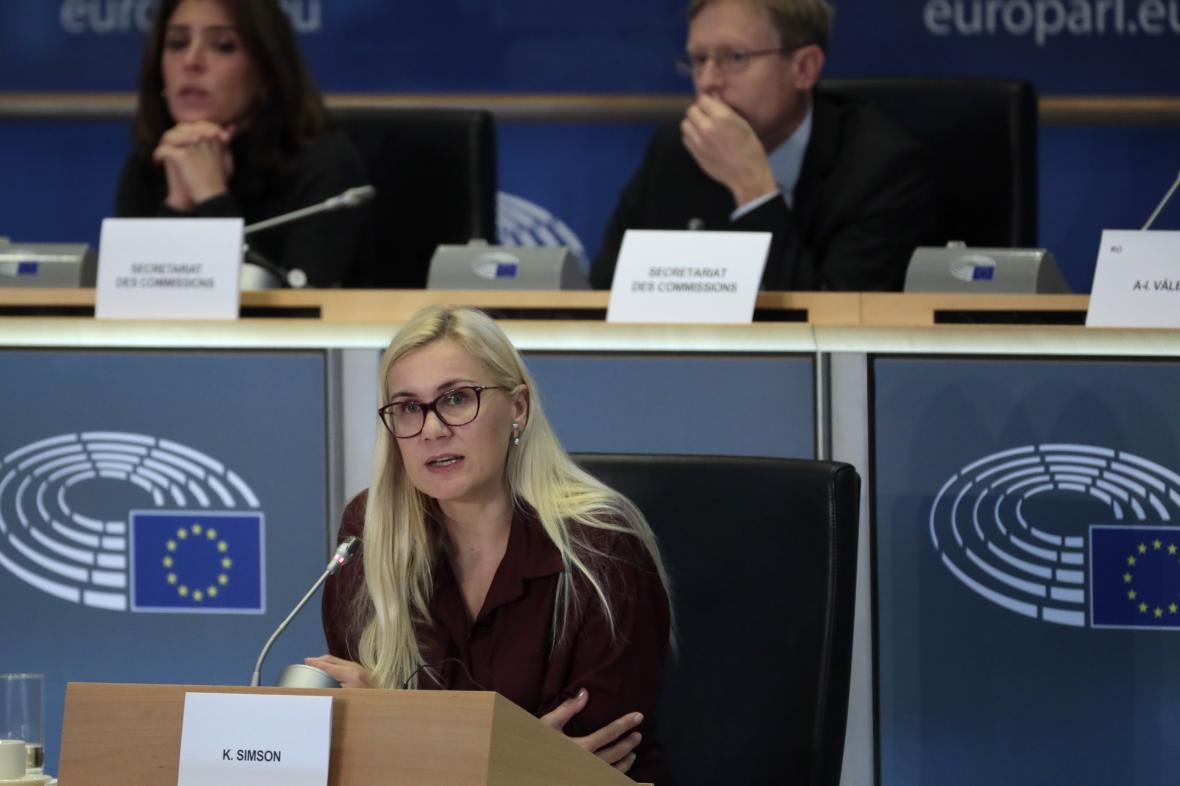 Eurokomisařka pro energetiku Kadri Simsonová