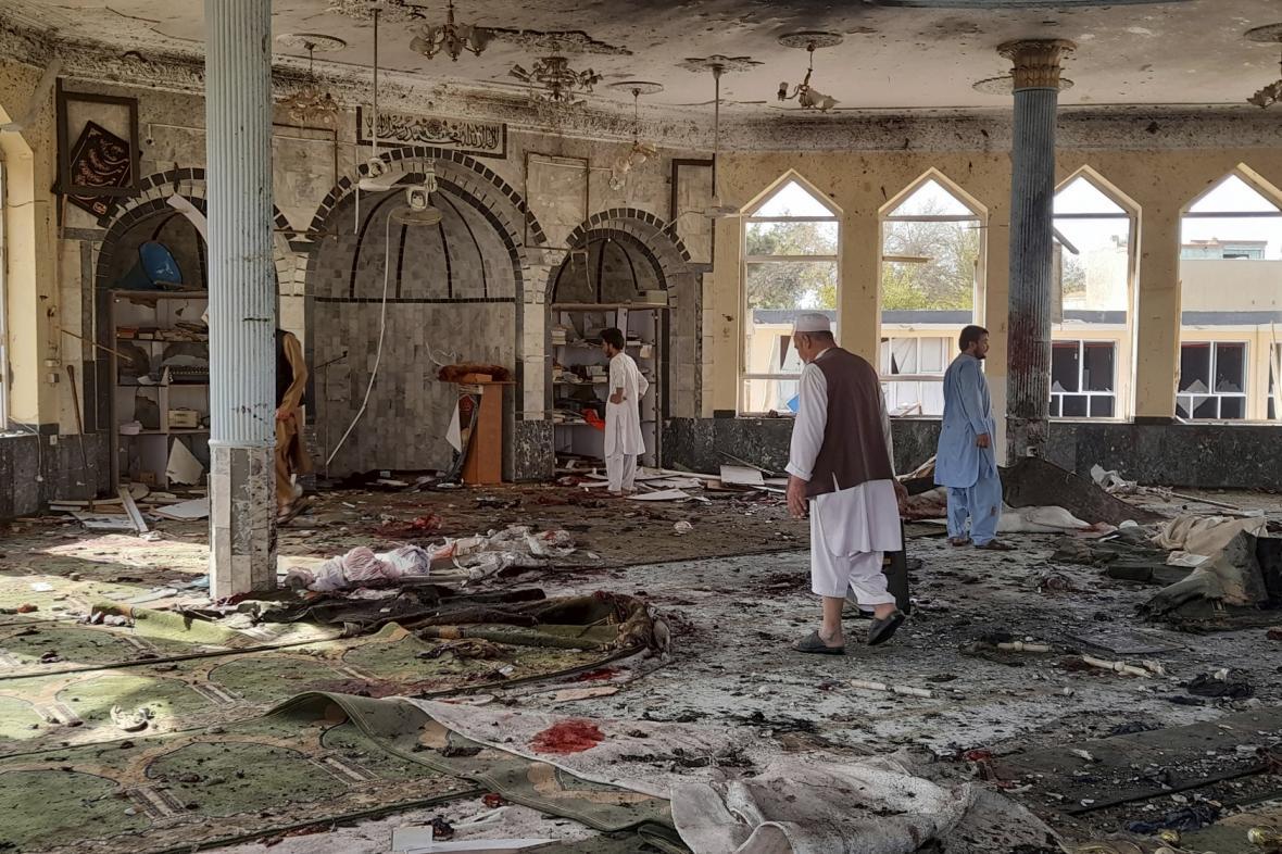 Mešita po výbuchu