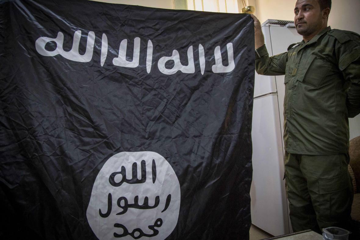 Vlajka Islámského státu - ilustrační foto