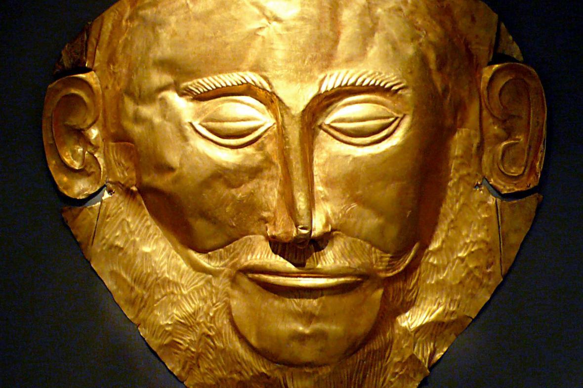 Agamemnónova  maska, kterou Schliemann objevil, tomu králi vůbec nepatřila