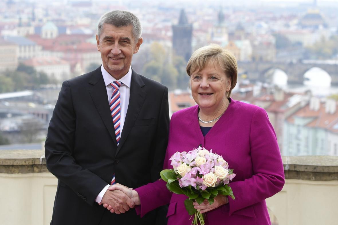 Andrej Babiš a Angela Merkelová