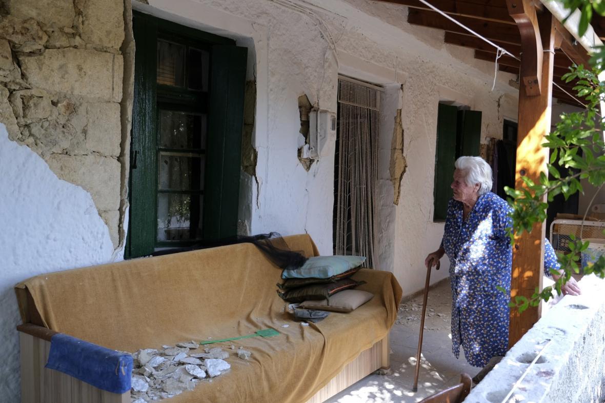 Kréťané zažili další zemětřesení (snímek zachycuje škody ze září)