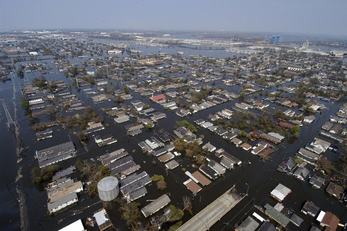 Zaplavené město, ilustrační foto
