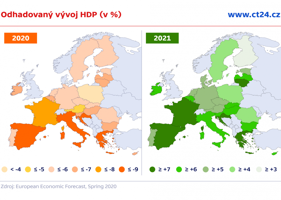 Mapa růstu (% HDP)