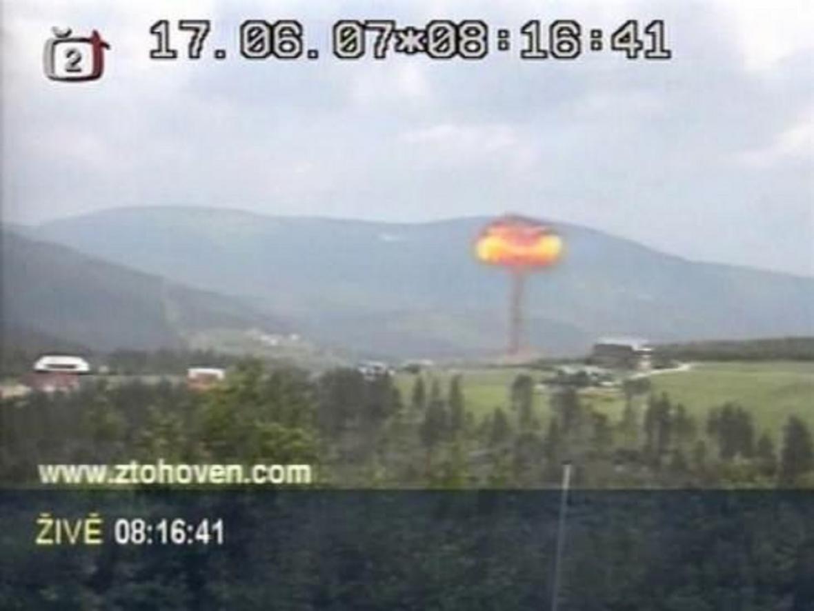 Simulovaný atomový výbuch ve vysílání pořadu Panorama