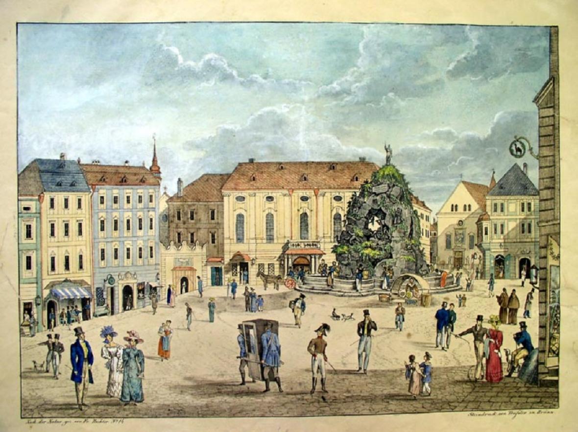 Zelný trh v Brně (1827)