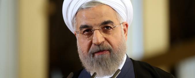 Íránský prezident a duchovní Hasan Rouhání