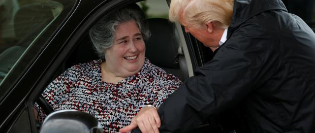 Donald Trump při návštěvě Houstonu