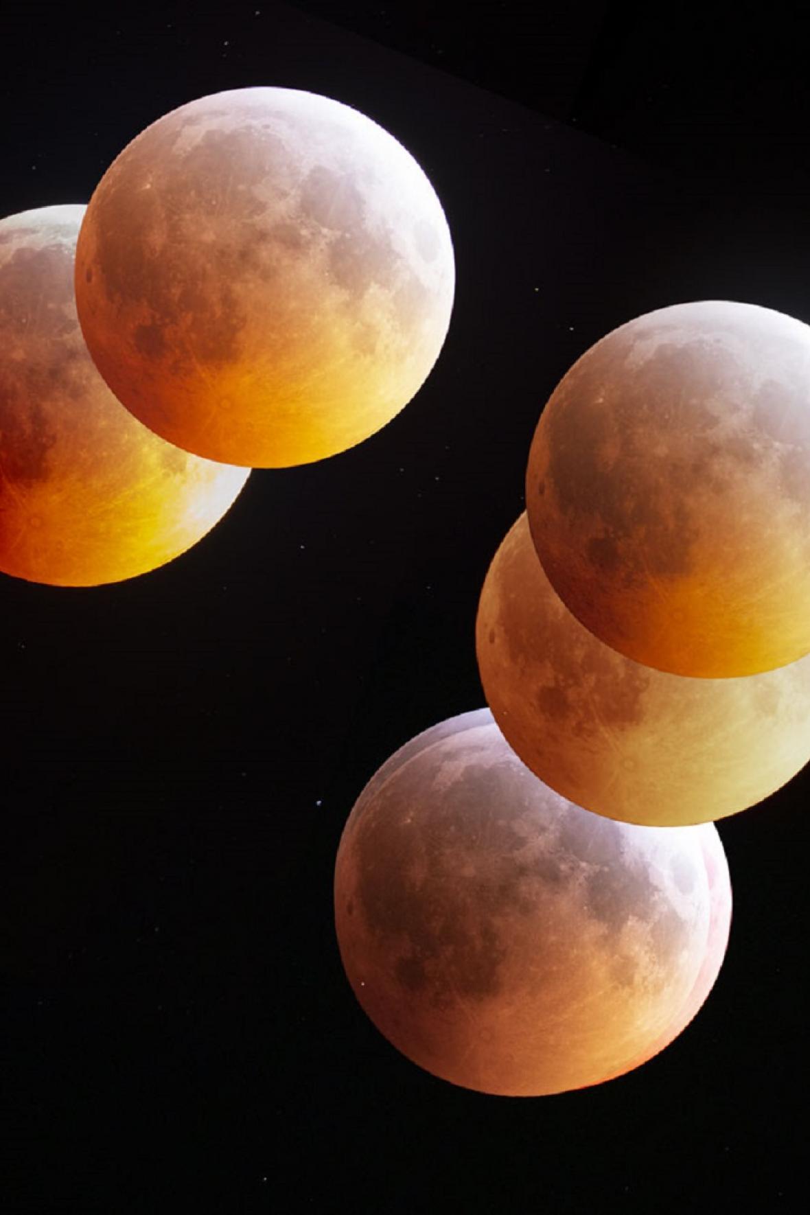 Snímek dne NASA 5. února 2020 – Perspektivy měsíčního zatmění (