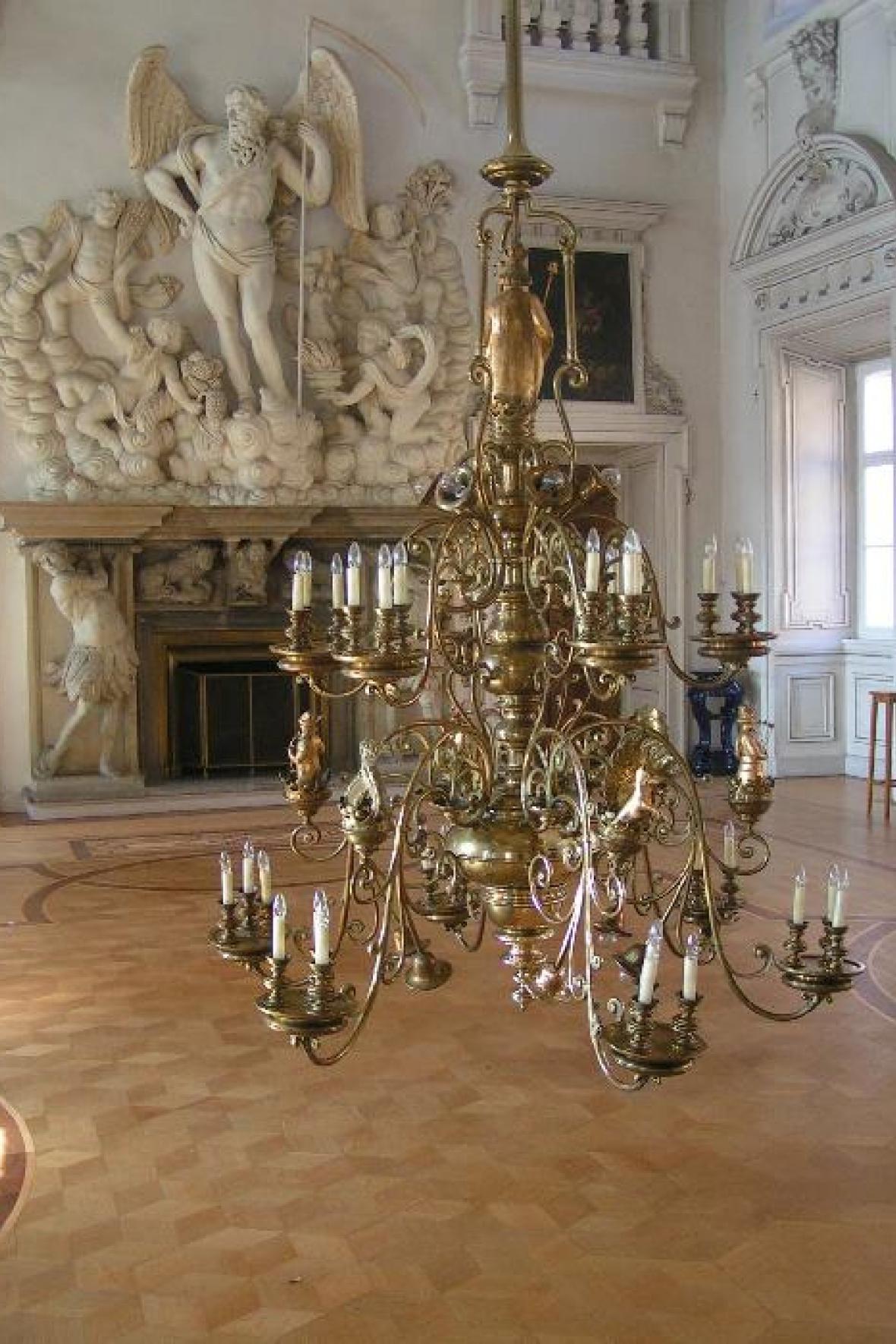 Barokní lustr - zámek Libochovice