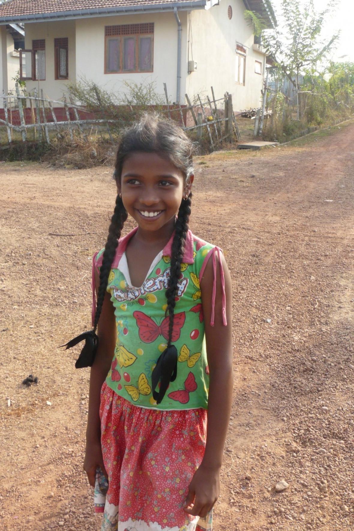 Dívka ze Srí Lanky