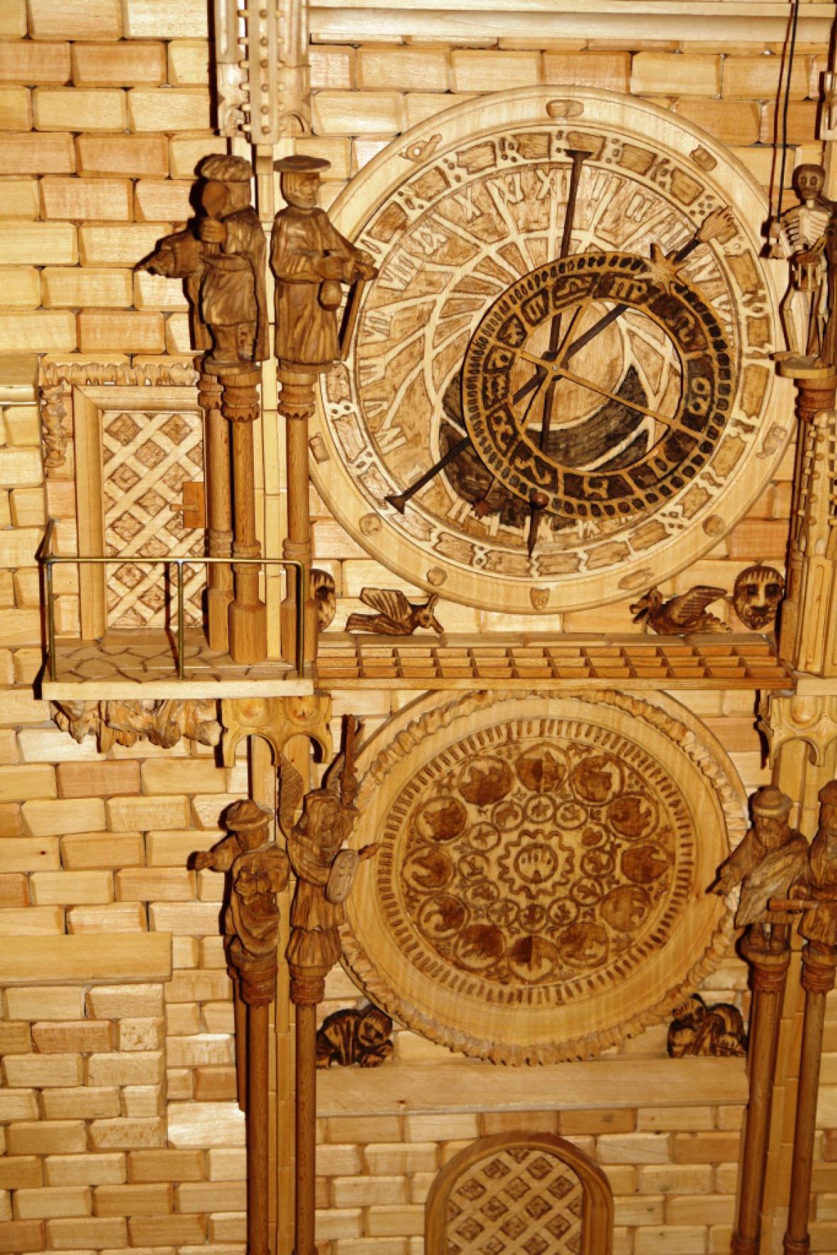 Model Staroměstského orloje od Pavla Balcara