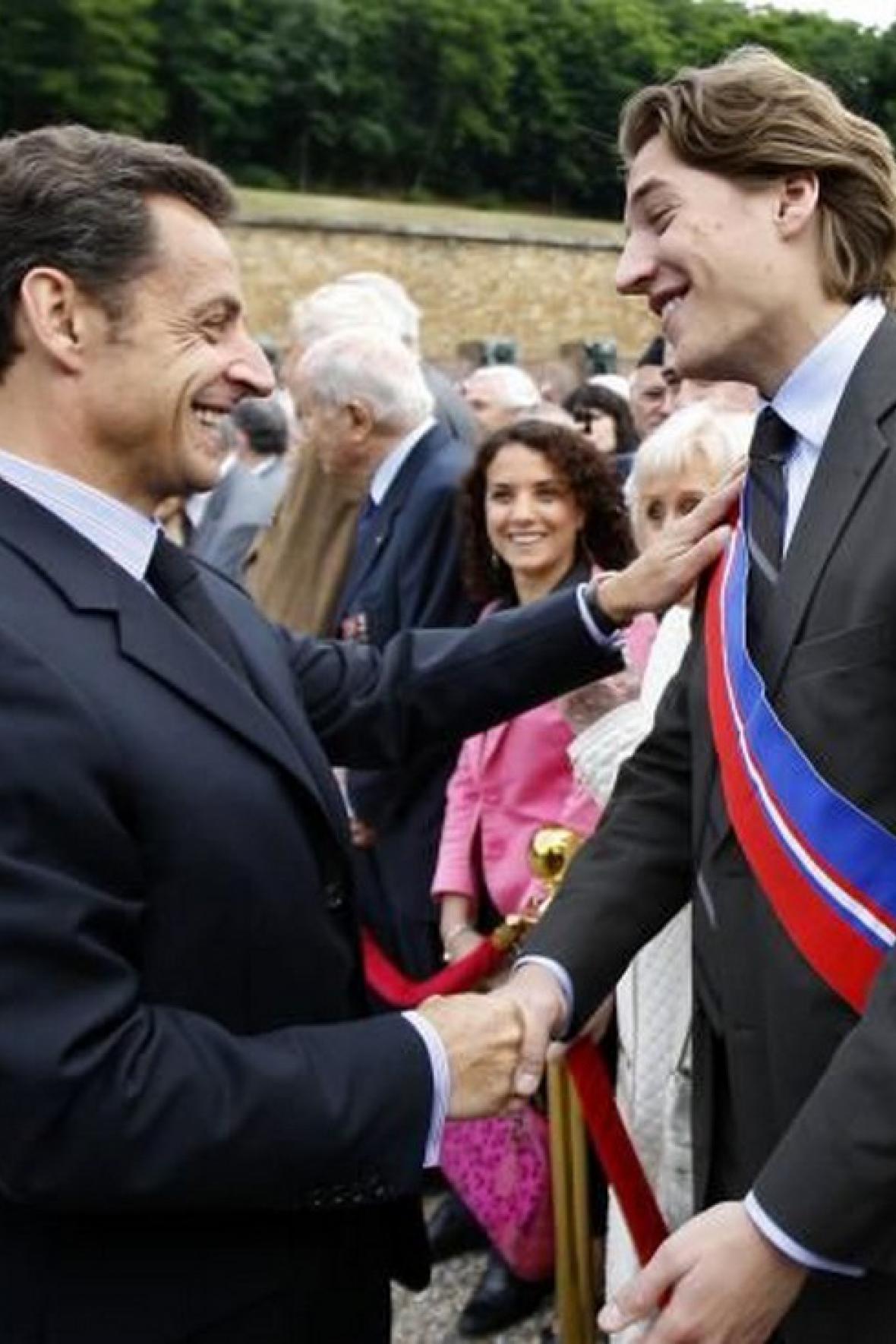 Nicolas Sarkozy se synem Jeanem