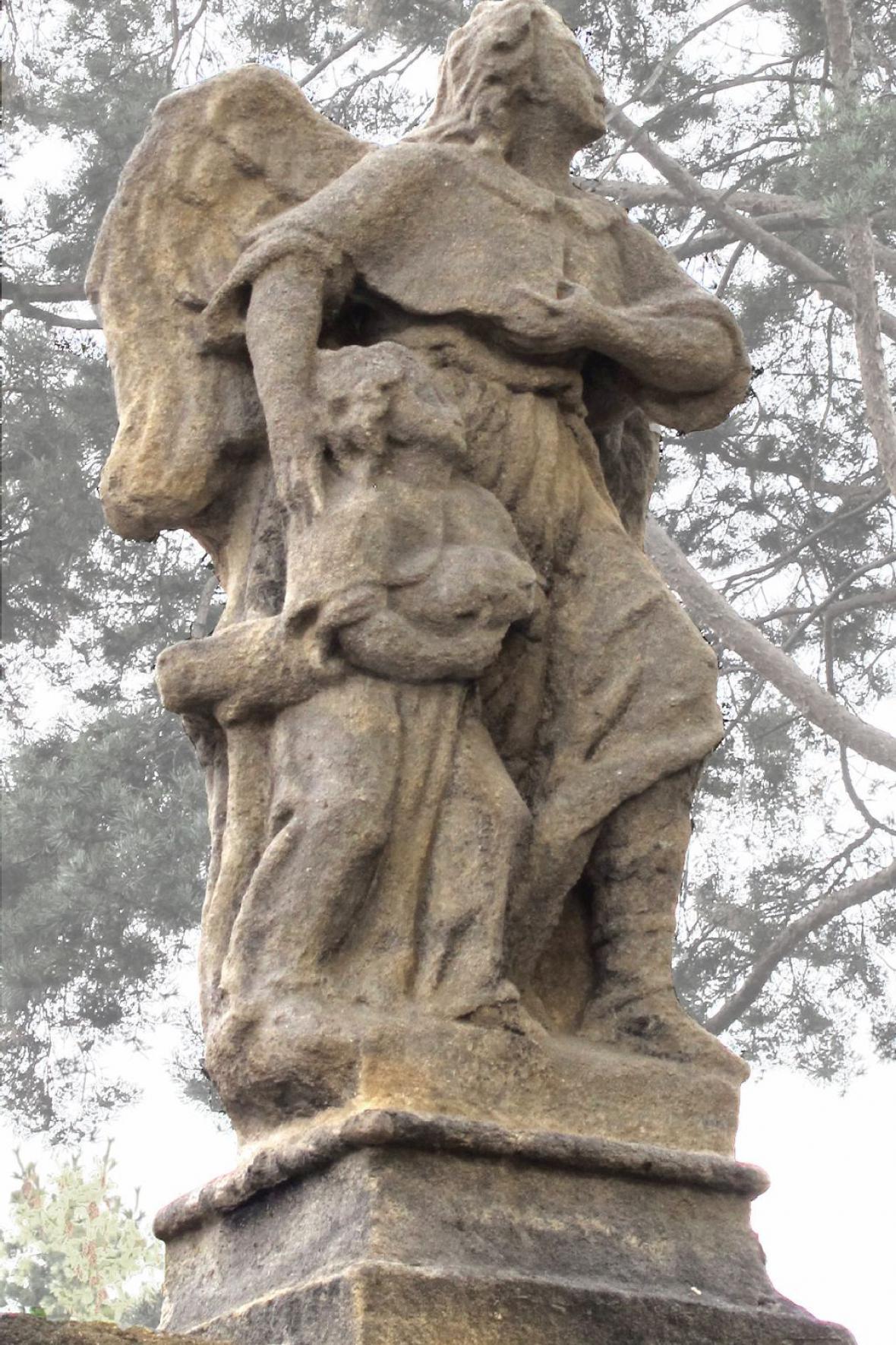 Barokní socha anděla z Kutné Hory