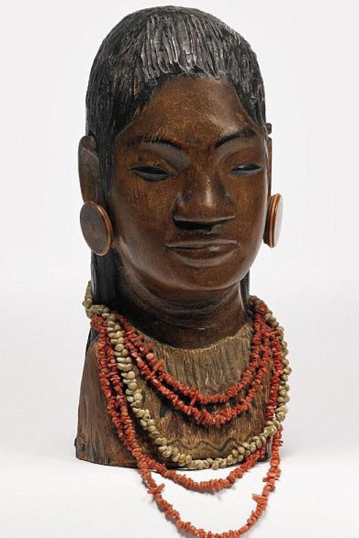 Paul Gauguin / busta tahitské dívky