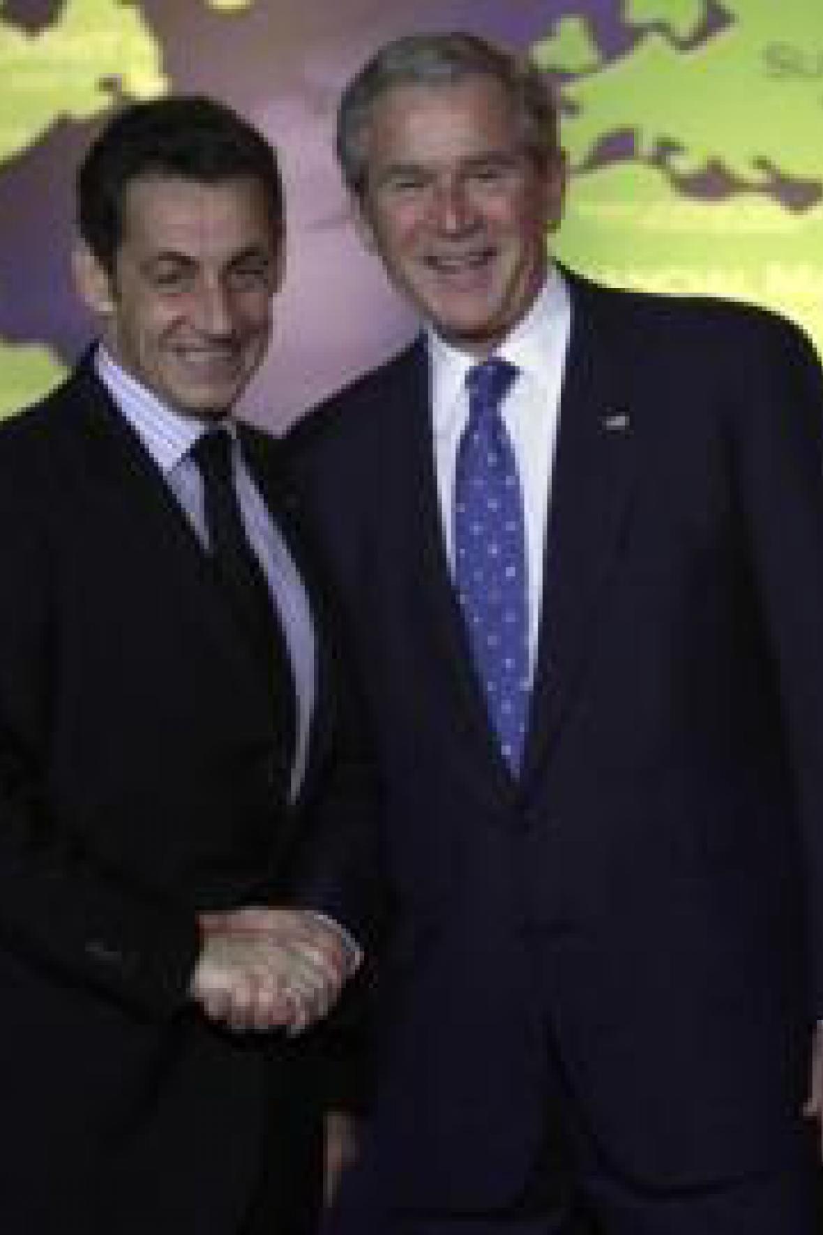 George Bush a Nicolas Sarkozy