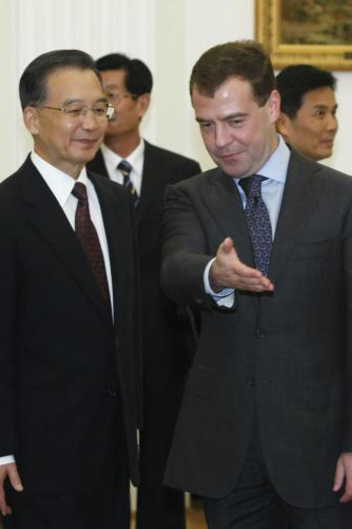Čínský premiér a ruský prezident