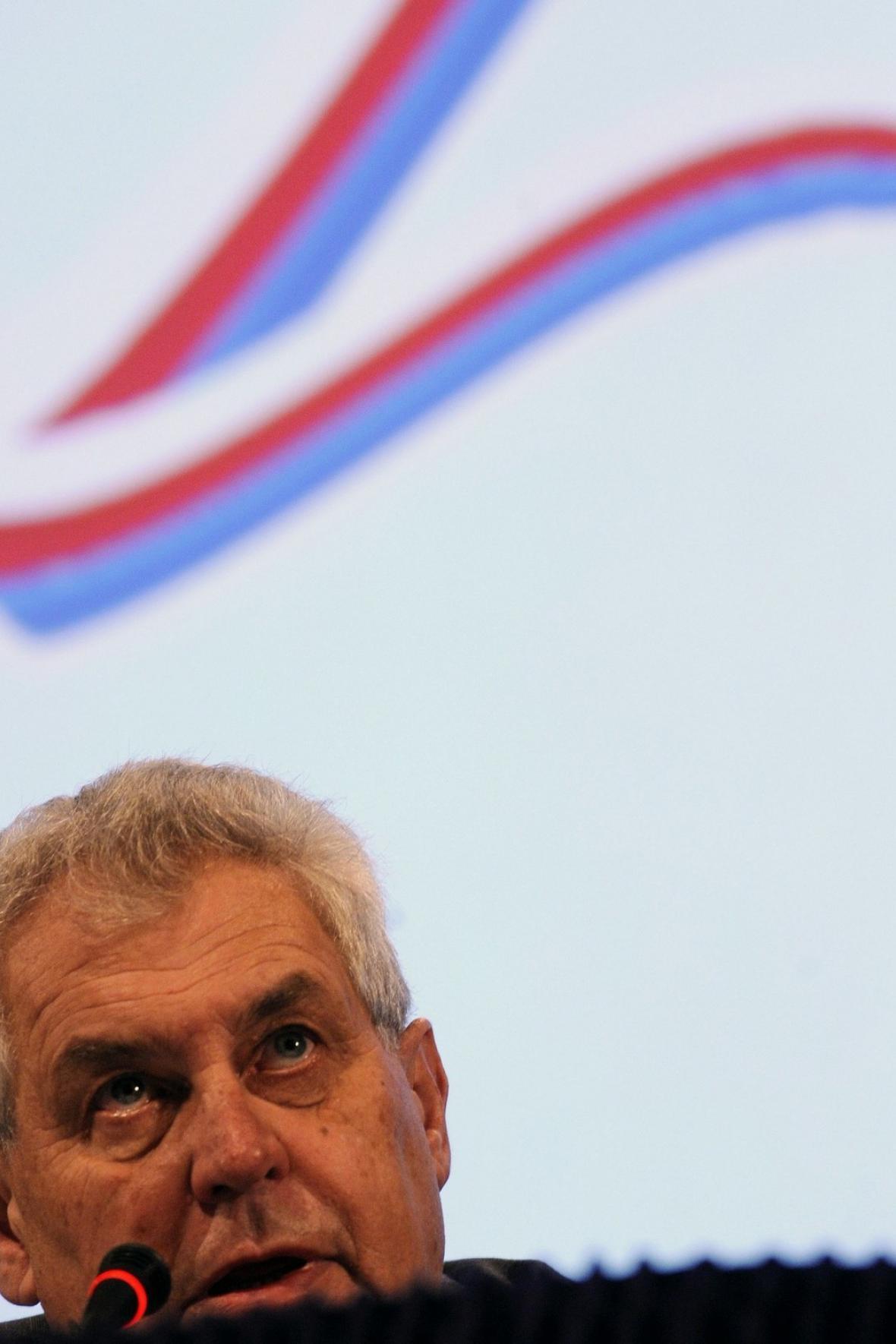 Miloš Zeman v Kongresovém centru