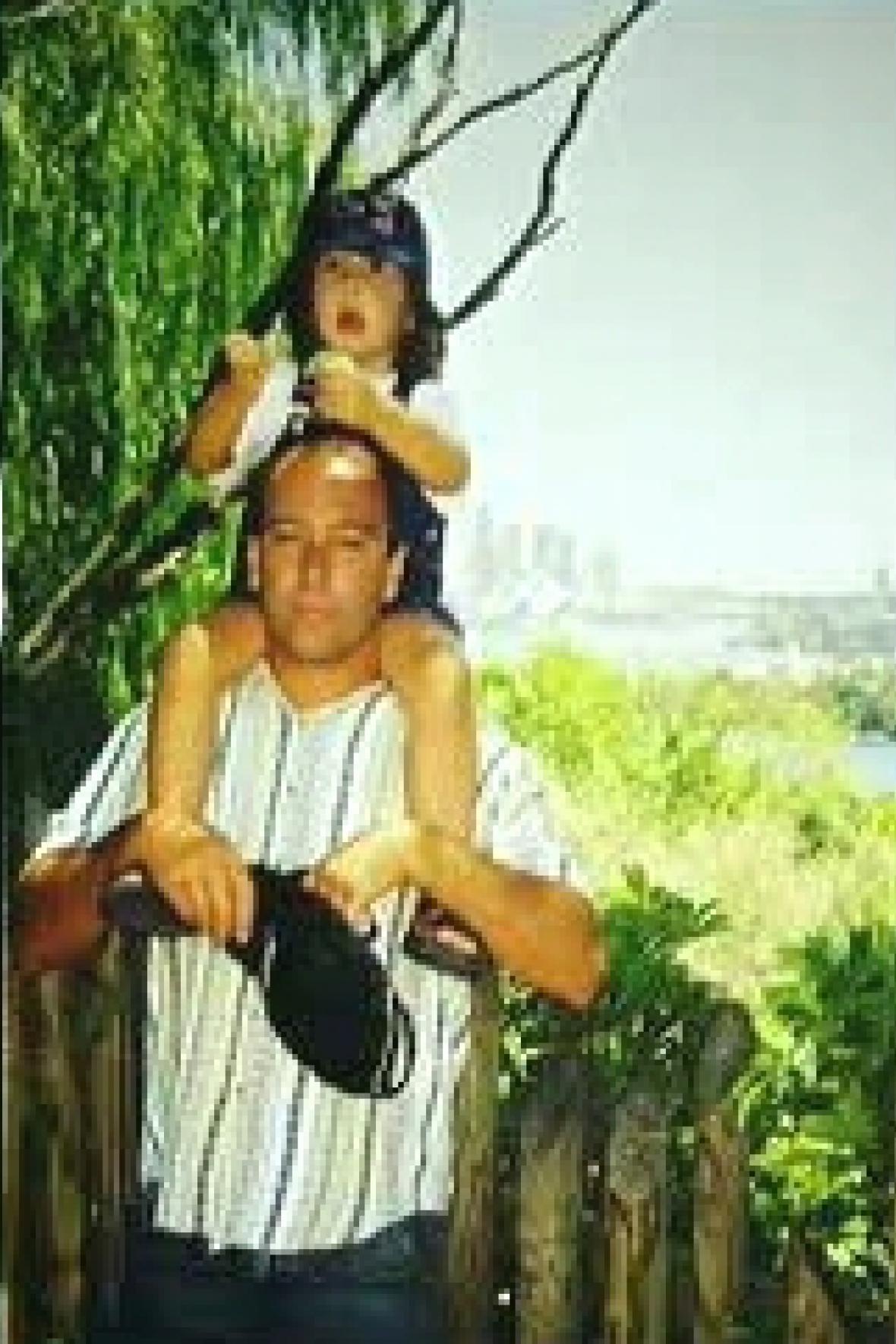 Terezka s otcem