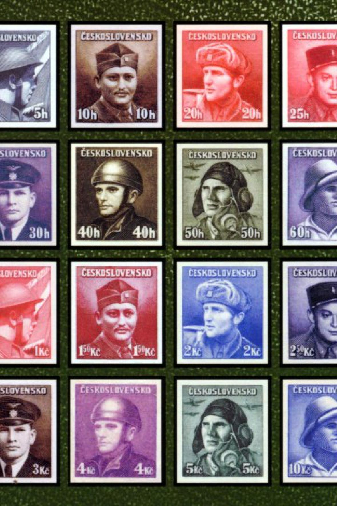Emise známek s portréty československých vojáků