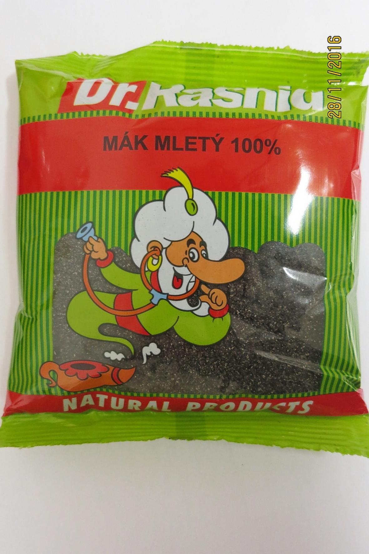 Mák, který obsahoval nadměrné množství pozůstatků pesticidů.