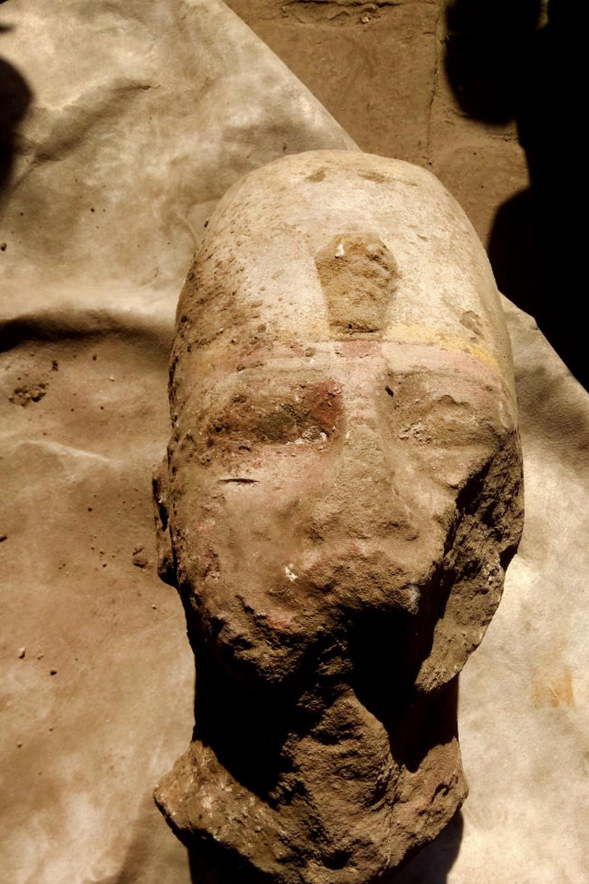 Nově objevená socha faraona Ramesse II.