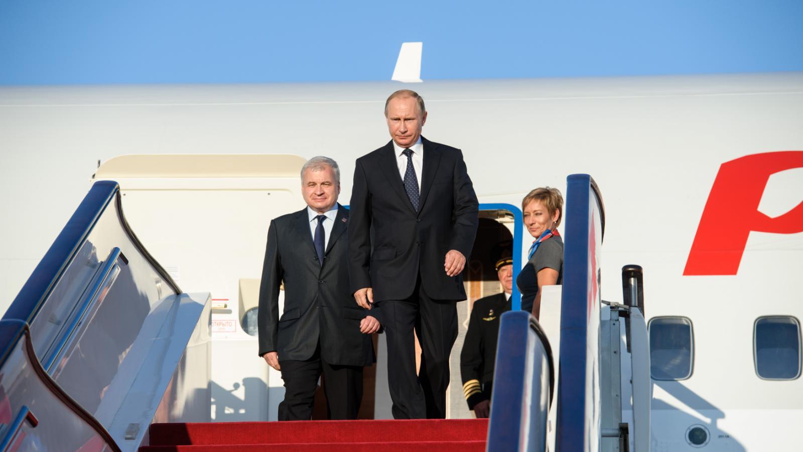 Vladimir Putin na návštěvě Číny
