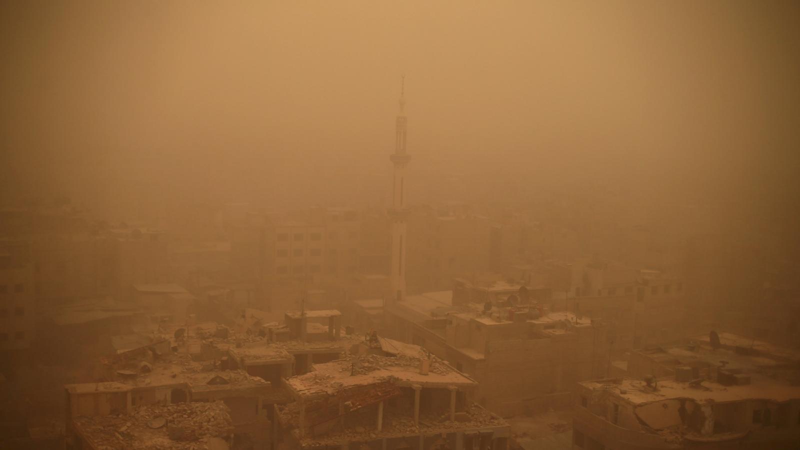 Písečná bouře v Damašku
