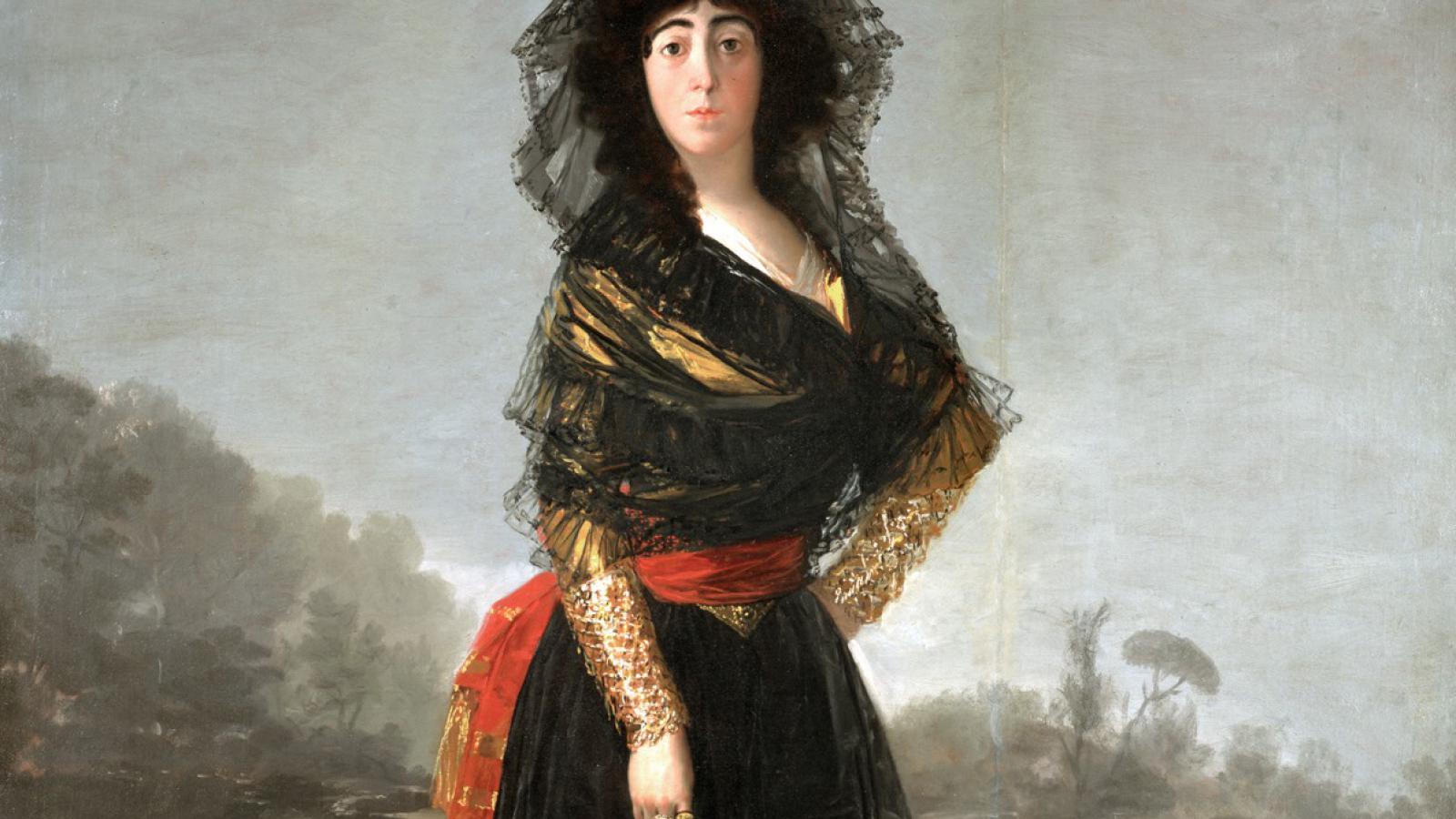 Francisco Goya / Vévodkyně z Alby (výřez)