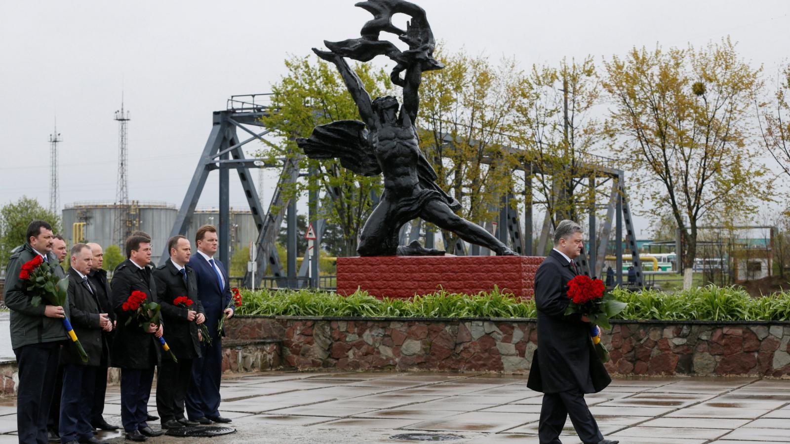 Petro Porošenko v Černobylu