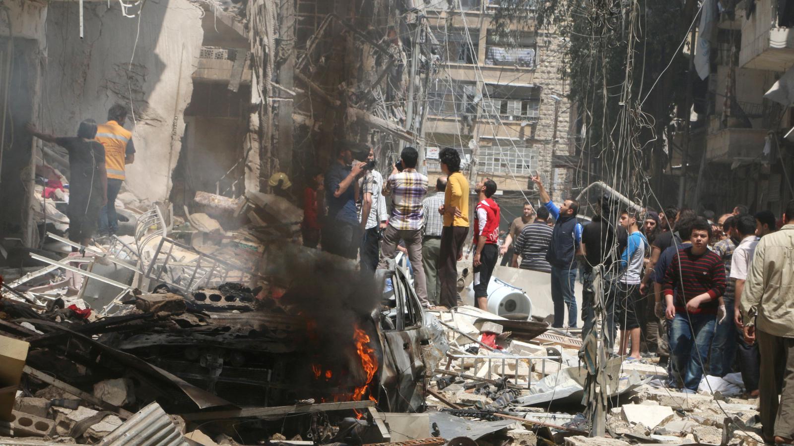 Aleppo po náletech